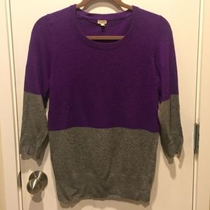 J. Crew Color-Block Sweater